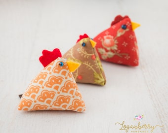 Chicken Pin Cushion Sewing PATTERN