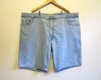 Light Blue Denim Shorts Mens Grunge Shorts Hipster Club Kid Punk Shorts Size 4X IuoEdn