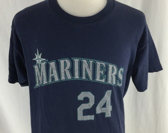 Vintage 90s Seattle Mariners Ken Griffey Jr T shirt Size XL Made In USA Trench Tag MLB