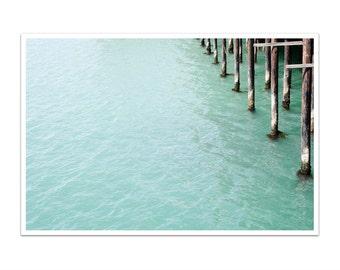 ocean photography // minimalist art print // modern nautical decor - Wharf