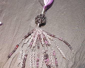 Tassel necklace with ribbon