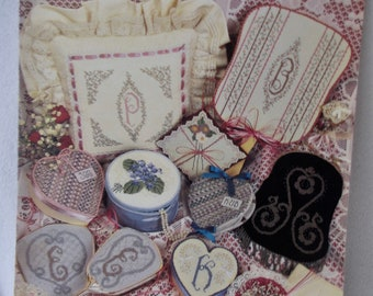 Ribbons and Rosebuds, Counted Bead Embroidery by June Grigg