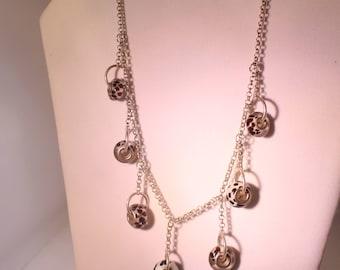 Giraffe pattern Large hole bead Necklace