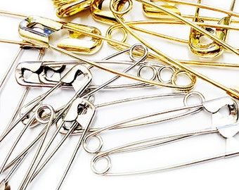 50 Prym Dritz Nickel plated steel and brass safety pins Professional Style Safety Pins, Multisize, 50-Count (Assorted sizes 00, 0, 1 and 2)