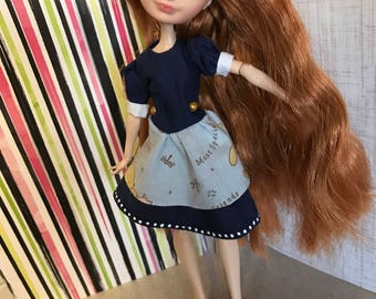 Winnie the Pooh dress for Ever After High or Monster High Dolls