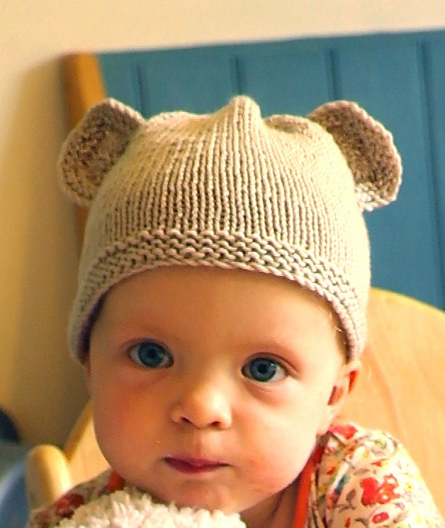 Easy baby knitting pattern / Teddy bear hat / Baby hat with ears ...