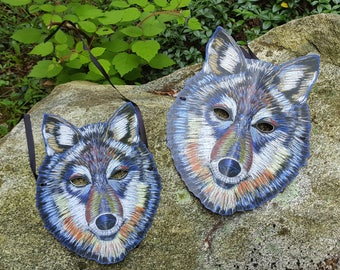 Mr. and Mrs. Wolf Mask / Couples Mask / Halloween Mask