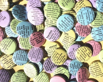 Handmade Wedding Favors- Words Enough For A Lifetime Together - The Rainbow Edition