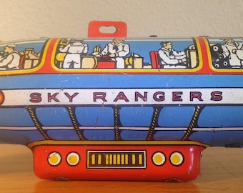 Sky Rangers Airship tin litho toy