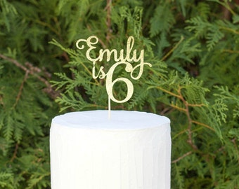 ANY NUMBER! Happy Birthday Cake Topper, Personalized Cake Topper, Cake Topper, Glitter Cake Topper, Custom Cake Topper, Birthday Party