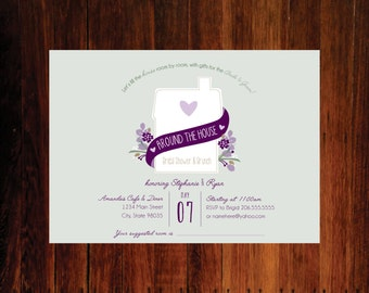 Around the House Bridal Shower invitation, bridal Shower invitations - set of 12