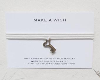 Wish bracelet, make a wish bracelet, key bracelet, W25