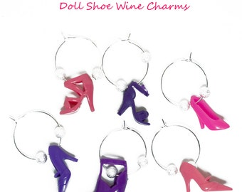 Girly Mix Doll Shoe Wine Charms(c) by Sara Gallo