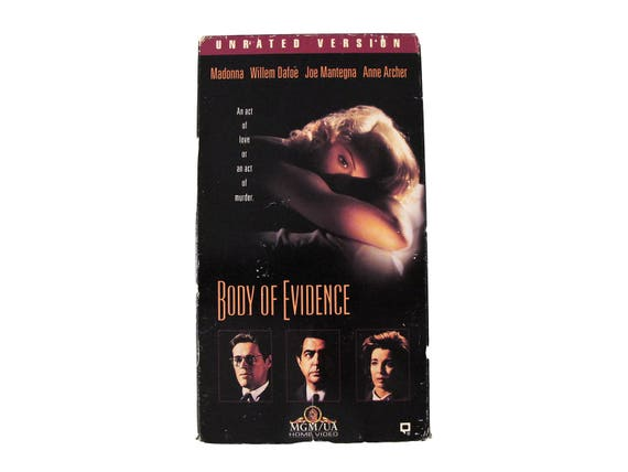 Body of Evidence Unrated Version VHS