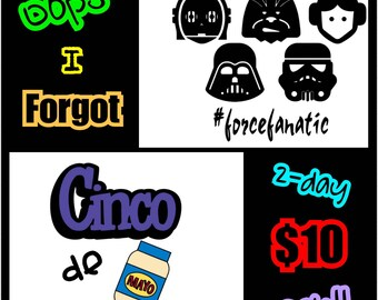 Stars wars/cinco de mayo tees