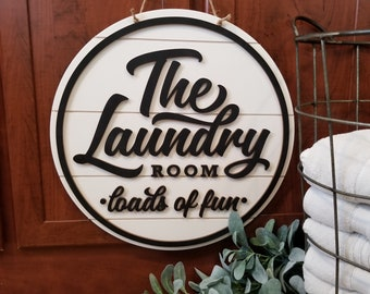 Laundry Room Door Hanger - Shiplap Wall Hanging - Farmhouse Decor - The Laundry Room Sign