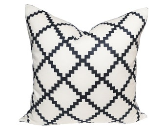 Reverse Chant Navy designer pillow covers - Made to Order
