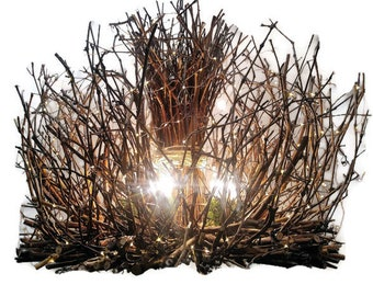 Little Mountain - Rustic Chandelier - 6 Candle Chandelier - Rustic Chandelier - Cabin Lighting - Rustic Chic Light 30X24 300 LED