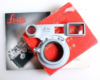 Vintage Optical Close Focusing Device For Leica M3//Camera Parts//Leitz//Steampunk