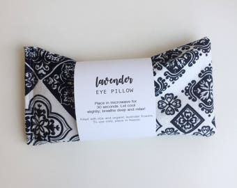 Lavender Eye Pillow, Relaxation Gift, Meditation, Aromatherapy Eye Pillow, Organic Lavender, Rice Pack, Yoga, Gift for Her, Spa Gift
