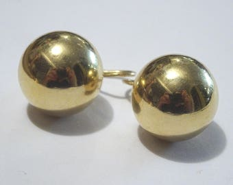 Vintage French style 14 k Ball Earrings