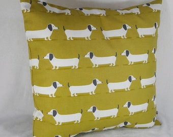 Dachshund pillow, puppy pillow cover, dog pillow, weiner square pillow, doxie pillow, pillow cover, dachshund cushion, dachshund decor