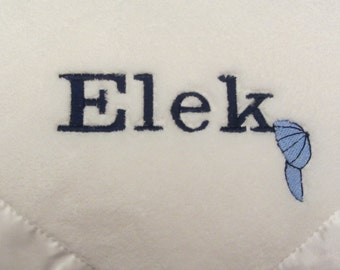 Baby Blanket Custom Personalized Name and Hat Baby Blanket