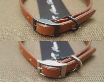 Light Brown Handmade Leather Dog Collar