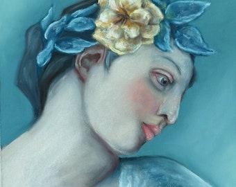 Pastels Drawing,Portrait,Fine art, Wall art