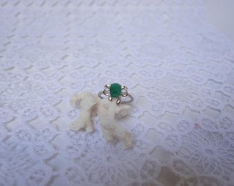 Ring ZOMOROD Emerald and silver