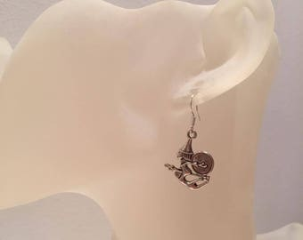 Witch broom earrings
