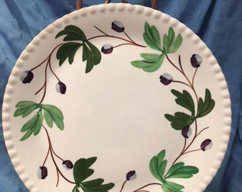 Purple w/Ivy Large Dinner Plate