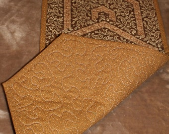Brown Paisley Table Runner-Medium