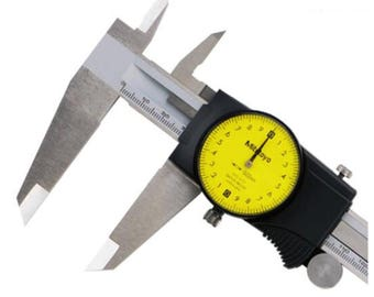 High Quality Mitutoyo Dial Vernier Calipers 0-150 0-200 0-300mm  6In 8In 12In Plating Caliper Micrometer Measuring Stainless Steel