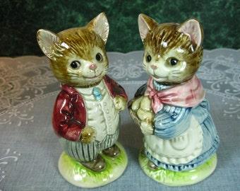 Otagiri Cat Salt & Pepper Shaker Set - Otagiri - Cat - Salt And Pepper - Kitchen - Vintage Kitchen - Japan - Gift - Otagiri Cat - Shakers
