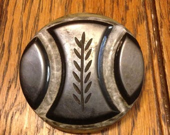 Carved Bakelite Button
