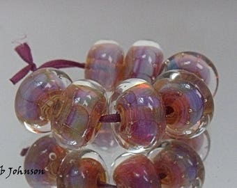 Angel Breath, Lampwork Beads, SRA, UK