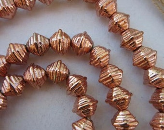 Fancy Copper Spacer Beads (9x9mm) [65234]