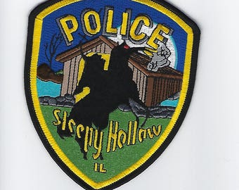 "Illinois Sleepy Hollow Headless Horseman Police Patch (4"")"