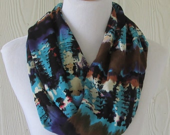 Tribal Infinity Scarf, Women's Scarf, Circle Scarf, Loop Scarf, Necklace Scarf, Scarves, Eclectasie