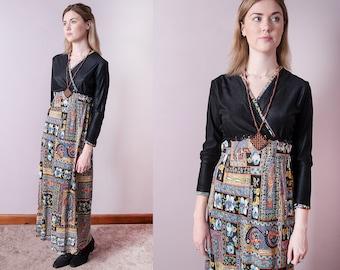 Vintage 1970's I Empire Waist I Floral I Boho I Maxi I Dress I S/M