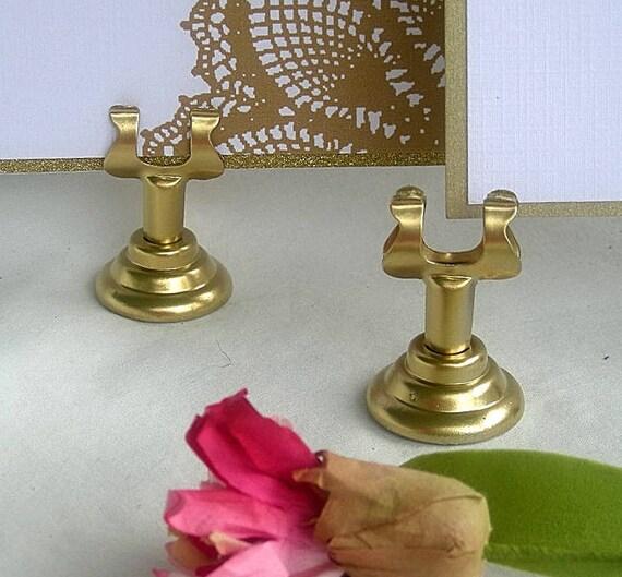 Or porte noms de mariage menu support harpe or fonte table - Support nom de table mariage ...
