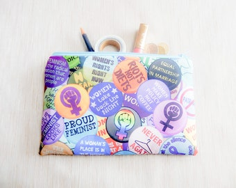 Gift for Her/ Pencil Case/ Women History Make Up Bag/ Best Friend Gift/ Sister Gift/ Gift for Wife/ Mothers Day Gift/ Birthday Gift/ Pouch