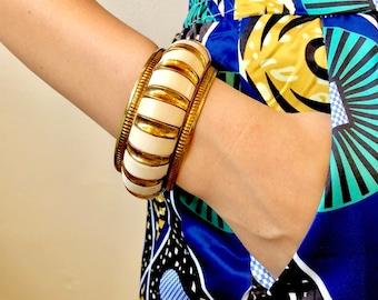 Vintage Brass and enamel bangle
