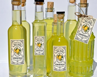 Blank Limoncello Labels You Edit Limoncello Canning Labels Download DIGITAL Limoncello Wedding Tags Limoncello Tall Specialty Bottle Labels