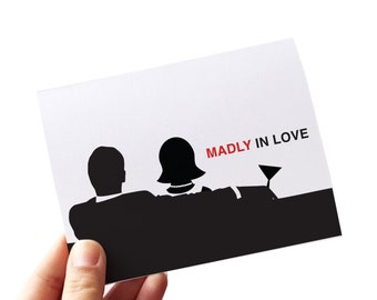 wedding card congratulations // wedding greeting card // madly in love // engagement card // mad men // congratulations card // card for wed