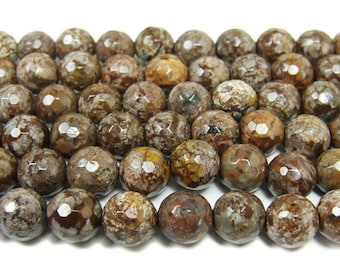 Chocolate Jasper Faceted Gemstone Beads