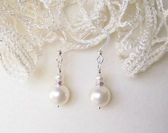 Pearls and Rhinestone Earring Kit