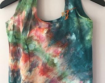 Ice Dyed Stuffable Tote Bag, #150