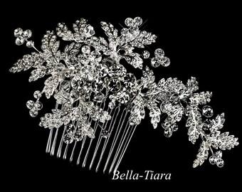 Swarovski crystal bridal comb, wedding comb, crystal wedding comb, vine wedding comb, crystal bridal comb, bridal hair comb
